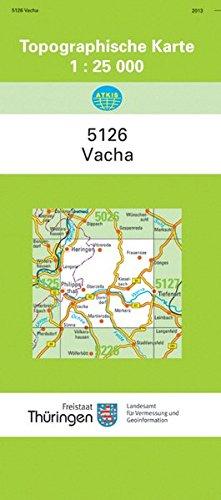 Vacha 5126 Topographische Karten 1 25000 Tk 25 Thuringen Amtlich