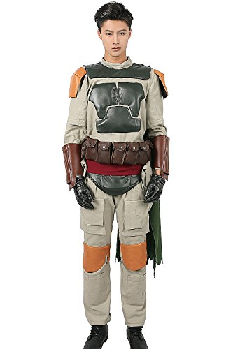 Boba Fett Costume Armor Outfit Suit for Adult Halloween Cosplay XCOSTUME