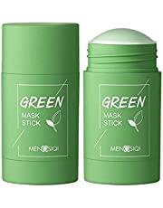 Green Tea Purifying Clay Stick Mask - Moisturizes and Controls The Oil, Acne Clearing, and Blackhead Remover, Improves Texture of The Skin,40g Green Tea