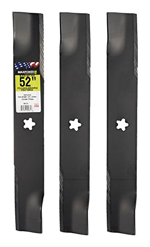 MaxPower 561741 3-Blade Set for 52 Inch Cut Poulan/Husqvarna/Craftsman Replaces 574-870801 ()