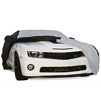 Red//Black Indoor//Outdoor Protection 2010-2019 Camaro Ultraguard Plus Car Cover