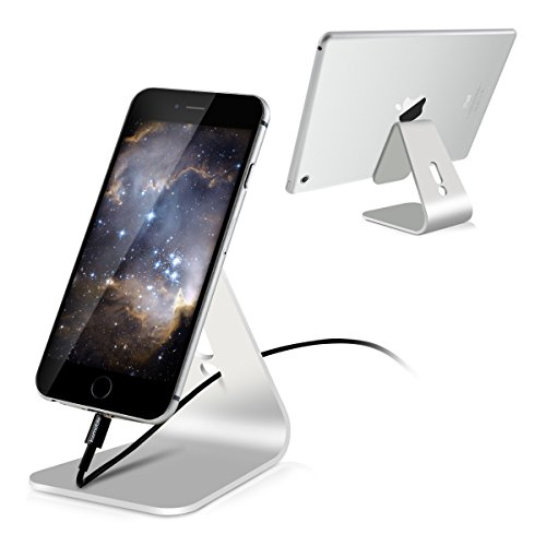 kwmobile Ständer Handy Tablet Halter für Smartphone / Tablet - Aluminium Universal Handyhalterung Tablet Tisch Ständer Station