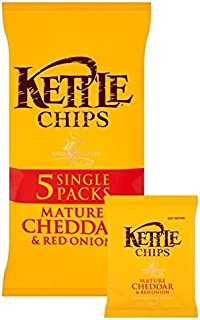 product image for Kettle Chips Cheddar Cheese & Onion 30g x 6 per pack