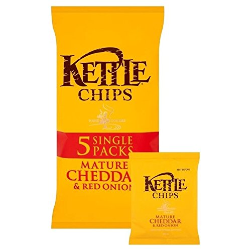 Kettle Chips Cheddar Cheese & Onion 30g x 6 per pack ()