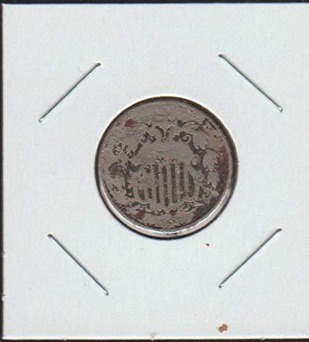 1874 Shield (1866-1883) Nickel Good - 1874 Shield