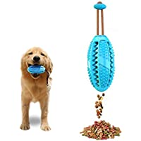 Dog IQ Treat Ball/Interactive Food Dispensing Dog Toy/Dog Toothbrush, 3 in 1 Multifunction Dog Chew Toys (blue)