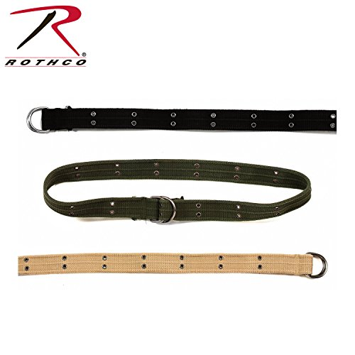 Rothco Vintage D-Ring Belt, Olive Drab, Medium