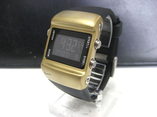 Nike Digital Press Watch - Gold/Black - WC0038-079