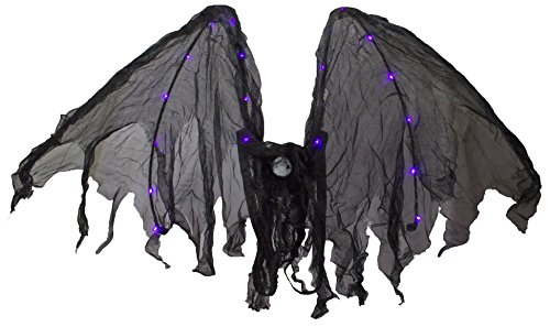 Halloween Costume Accessory - Light up Bat Wings by Ganz, One Size fits Most -