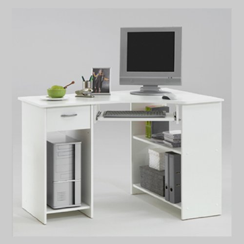 computer inspiring table office modern corner desk white