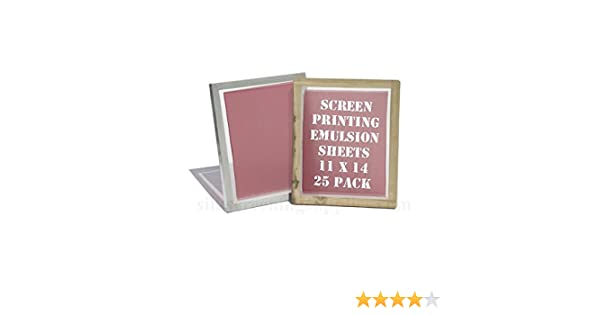 "Emulsion Sheets 11/""x14/"" DIY Yudu Style Screen Printing 5 Pack 30 Microns"
