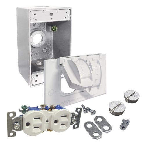 HUBBELL 5839-6WRTR WHT RECEPTACLE KIT, White
