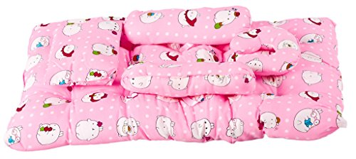 Buy Baybee Baby Jumbo Bed With Pillow And Bolsters Pink Online At