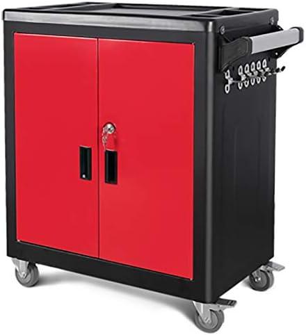 キャビネット ツールCabinetmetal Cabinetautoワークショップのハードウェアボックス多機能車修理 (色 : Red, Size : 69x43x82cm)