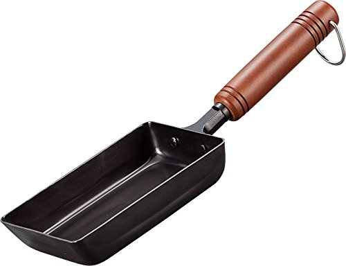 Three iron wooden handle omelet 9.5 x 15cm EM-8720 0752am swallow (Japan import / The package and the manual are written in Japanese)