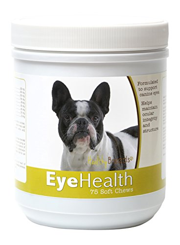 Healthy Breeds Dog Eye Care Support for French Bulldog – Over 80 Breeds – Soft Chew Supplement – 75 Count by Healthy Breeds