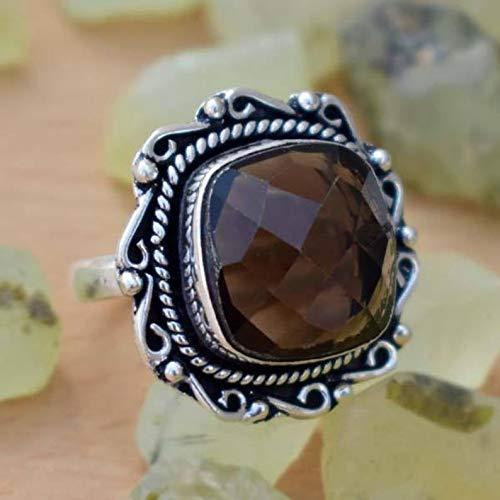AAA Multi Color Gemstone Rings-Checker Cut Rings-Gold Plated Rings-Cushion Rings-Cut Stone Ring-Handmade Ring-Boho Jewelry-Valentines Gift