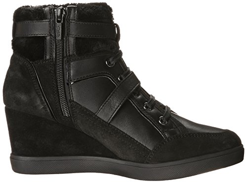 Geox D Eleni D Womens Leather Wedge Sneakers / Boots Black ibRvnShUx