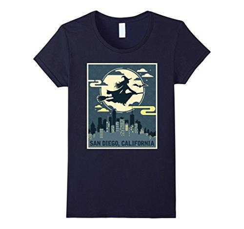 Womens San Diego California Witch Halloween Night T-shirt XL (Party City San Diego Halloween Costumes)