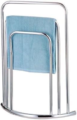 Zizzi - 3 nueva barra cromo pié toalla carril baño estante porta piso soporte shopmonk