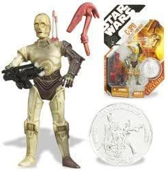 Lego Star Wars K-3PO figurine Head partie X1 Blanc C-3PO Protocol Droid Head
