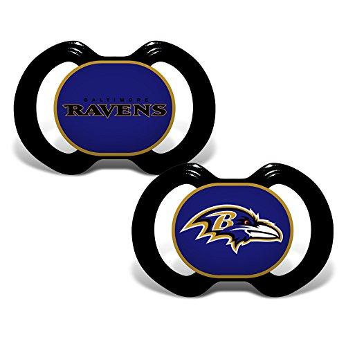 Baby Fanatic NFL Baltimore Ravens Unisex BAR212Gen. 3000 Pacifier 2-Pack - Baltimore Ravens