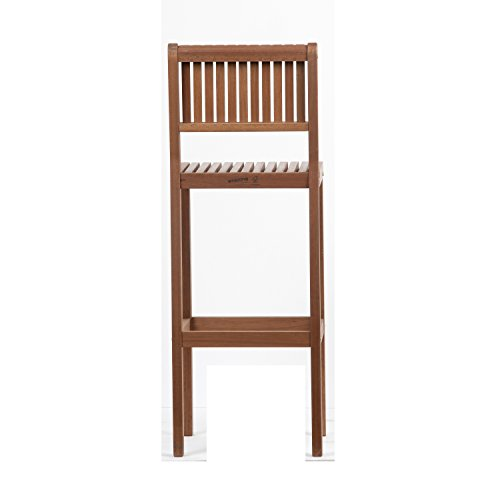 Amazonia Ibiza Eucalyptus Barstool, Light Brown