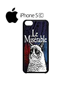 LJF phone case Les Le Miserable Grumpy Cat Mobile Cell Phone Case Cover iphone 4/4s Black