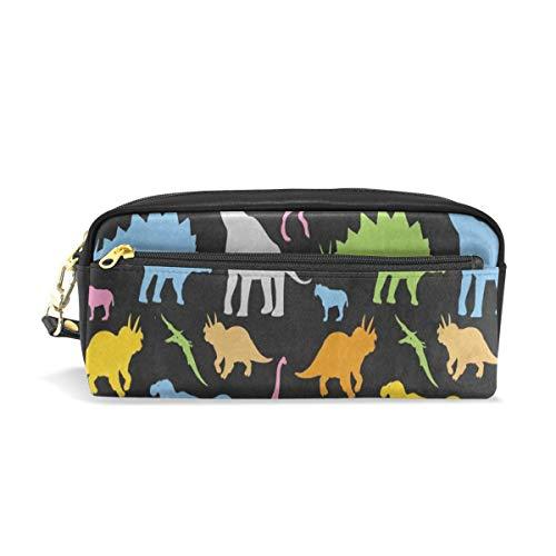 Pen Case Colorful Dinosaur Black Pencil Pouch Makeup Cosmetic Travel School Bag Burts Bees Pencil Pouch