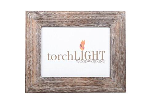 Torchlight Woodworking Rustic Chic Wooden Modern Designer Multi-Purpose 5x7 Photo ()