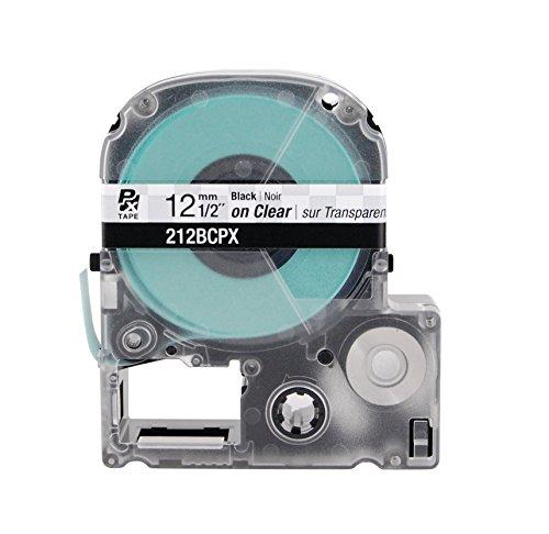 Labelshop Label Tape - K-SUN CORPORATION 212BC K-Sun 212BC Tape Black on Clear 1/2