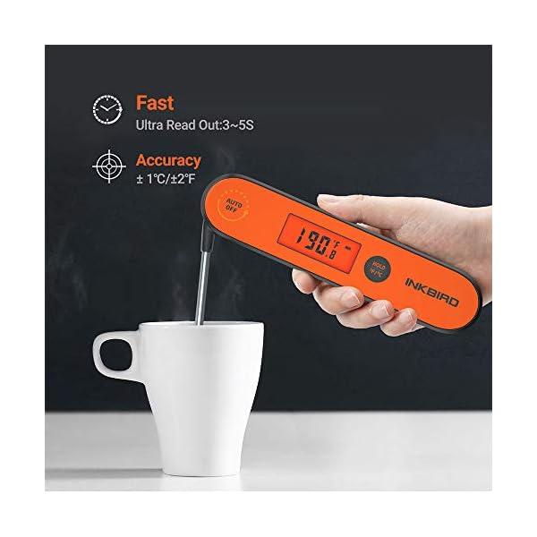Inkbird IHT-1P Termometro Cucina Digitale Ultrarapido Professionale 3s Termometro a Termocoppia a Lettura Istantanea per… 4