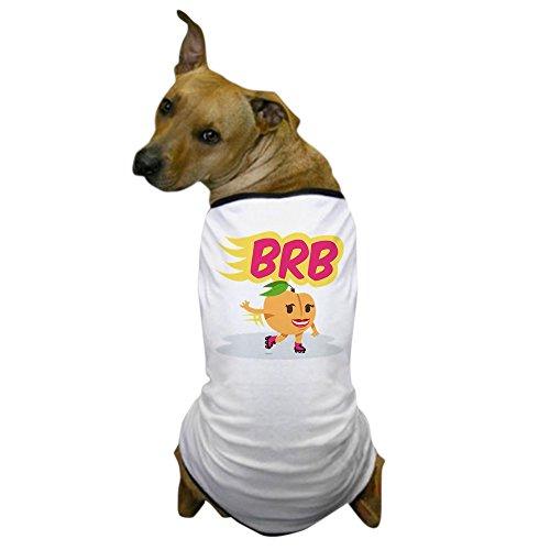CafePress - Emoji Peach BRB - Dog T-Shirt, Pet Clothing, Funny Dog (Skating Dog)