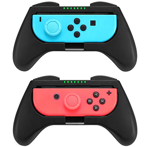 - Customized Comfort Grips Compatible with Nintendo Switch Joy-Con Controller (2-Pack), 2pcs Thumbstick Caps Included
