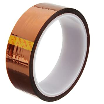 Demarkt 30 mm 100 pies 280 ℃ resistente al calor cinta de la cinta del Kapton poliimida rollo