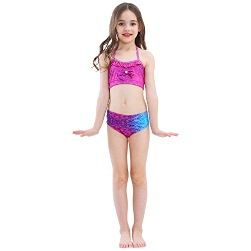 1f2e4b1888621 Euno Mermaid Tails for Swimming with Monofin ¨C Girls Sports Swimwear