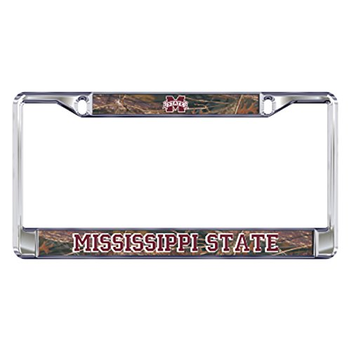 - Mississippi State Domed_PlateFrame DOMED CAMO MS ST PLATE FRAME