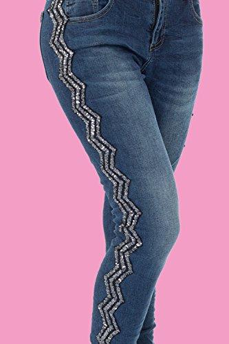 Skinny Femme Jeans Bleu Bleu malucas Bleu 4qAUC