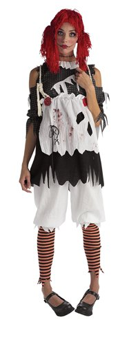 Rubie's Costume Co Women's Deluxe Rag Doll Costume, As Shown, -