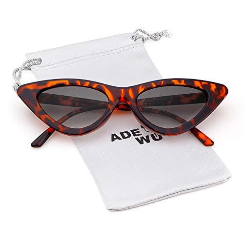 Gafas Gris de Gafas de retro estilo vintage Cobain mujeres protección niñas de Kurt para gafas de Tortugas sol Marco ojo ADEWU de sol Lente gato df6xUdgqw