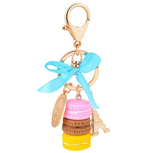 Song Qing Macaron Eiffel Tower Cute Pendant Bag Charm Purse Keychain Keyring Gift