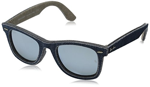 Ray-Ban WAYFARER - JEANS BLUE/JEANS GREEN B Frame LIGHT GREEN MIRROR SILVER Lenses 50mm - 2140 Wayfarer 50mm