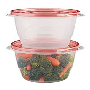 Rubbermaid TakeAlongs 6.2 Cup Medium Bowls, Food Storage Container, 3 Pack