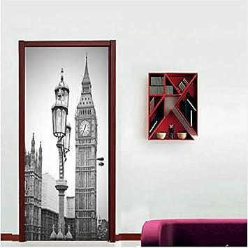 Newberli Londres Reloj Epítome Etiqueta De La Puerta Hogar ...