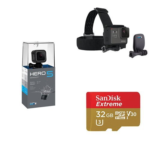 GoPro HERO5 Session w/ Head Strap and Memory Card Action Cameras