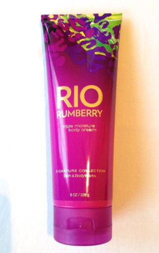 Bath Body Works Rio Rumberry Triple Moisture Body Cream 8 Oz