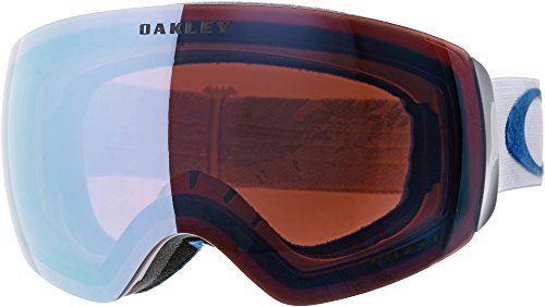 Oakley Women's Flight Deck XM Snow Goggles, White, Prizm Sapphire Iridium, - Rimless Goggles Oakley