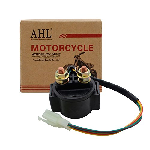 (AHL Starter Solenoid Relay for 4-Stroke GY6 Engine 50cc 150cc 200cc 250cc ATV Dirt Bikes Scooters Go Kart Dne Buggys Quad 4 Wheelers Pit Bike Moped Roketa SSR Taotao Sunl Coolster)