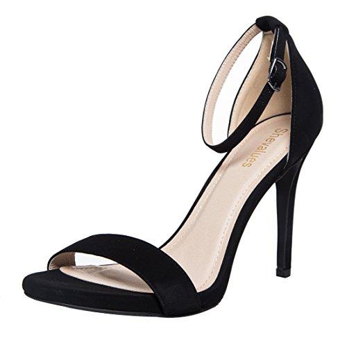 Classic Stiletto Dress Sandal Women's Single Band Ankel Strap High Heel Sandals BS8.5