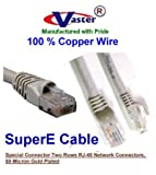 VasterCable Cat.6 Cable, 70 Ft UTP CAT6 Gigabit Patch Cable, Beige/Grey Color Color